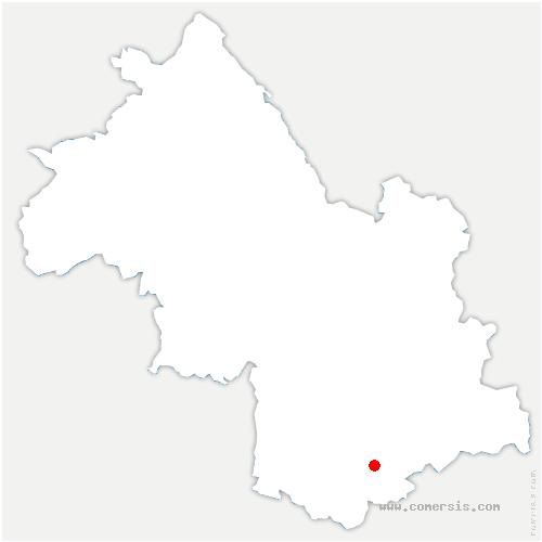 carte de localisation de Quet-en-Beaumont