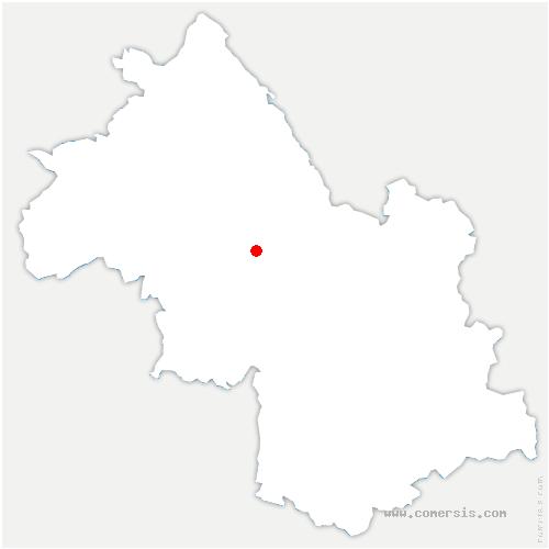 carte de localisation de Renage