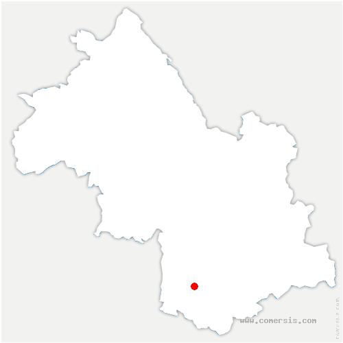 carte de localisation de Roissard