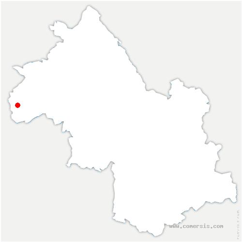 carte de localisation de Roussillon