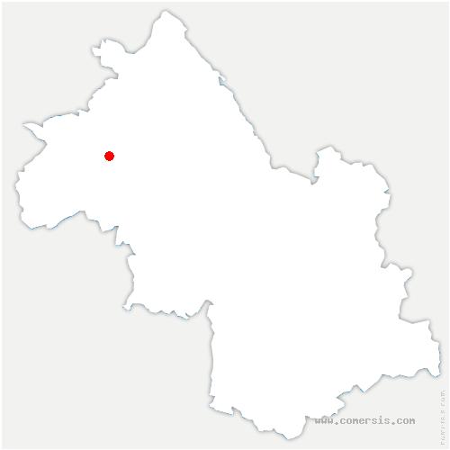 carte de localisation de Royas