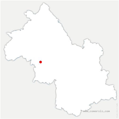 carte de localisation de Roybon