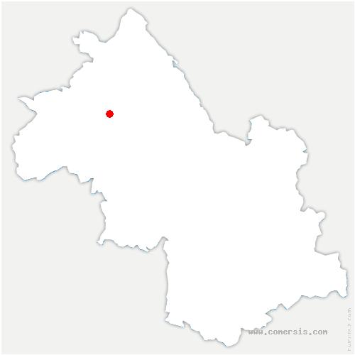 carte de localisation de Saint-Agnin-sur-Bion