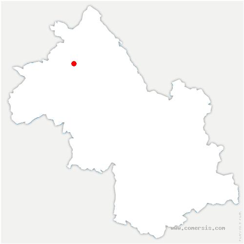 carte de localisation de Saint-Alban-de-Roche