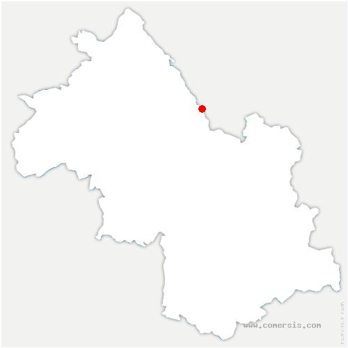 carte de localisation de Saint-Albin-de-Vaulserre