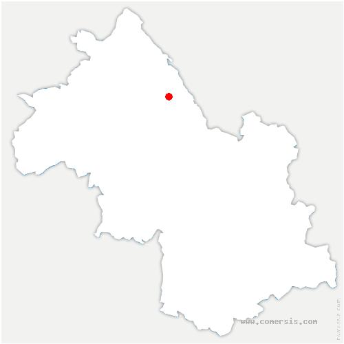 carte de localisation de Saint-André-le-Gaz
