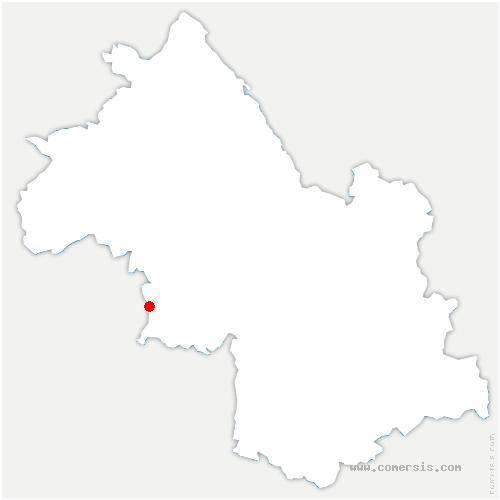 carte de localisation de Saint-Antoine-l'Abbaye