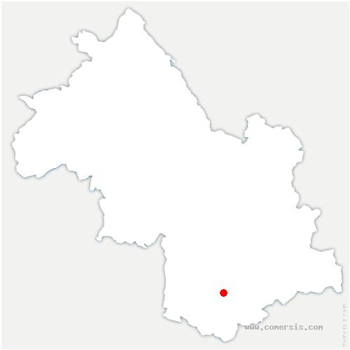 carte de localisation de Saint-Arey