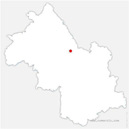 carte de localisation de Saint-Aupre