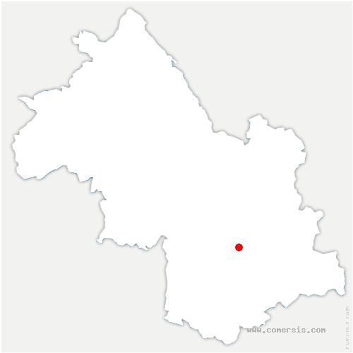 carte de localisation de Saint-Barthélemy-de-Séchilienne