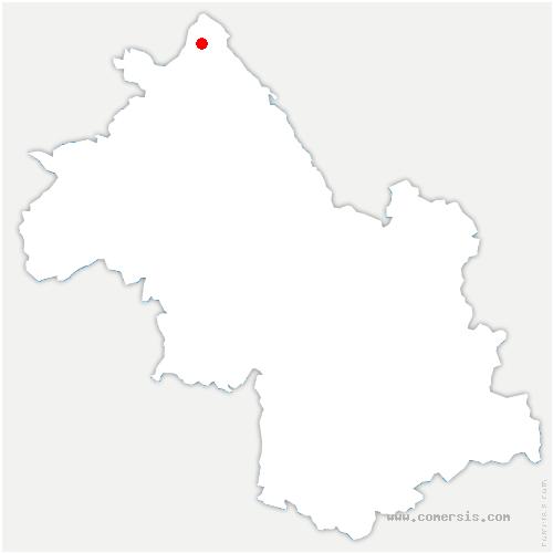 carte de localisation de Saint-Baudille-de-la-Tour