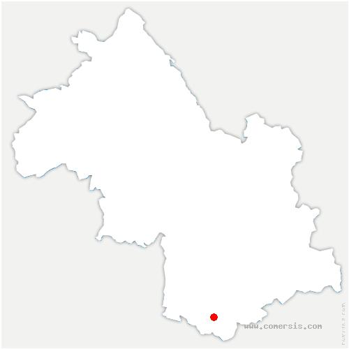 carte de localisation de Saint-Baudille-et-Pipet