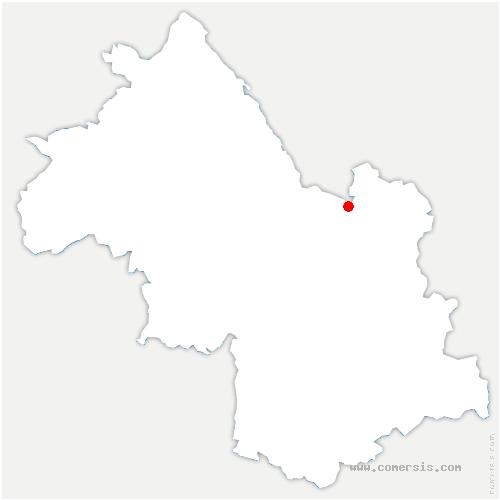 carte de localisation de Saint-Bernard