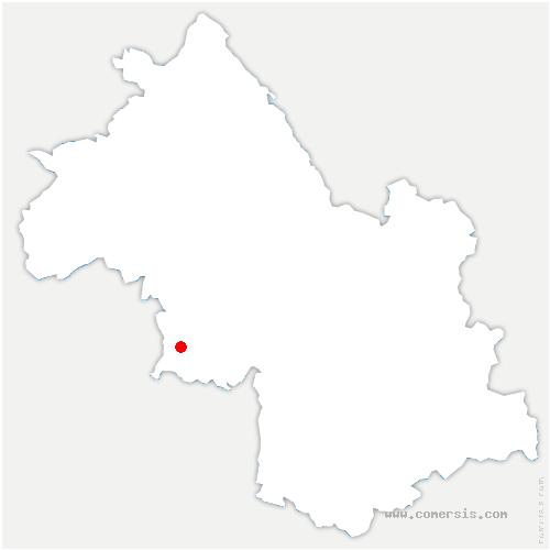 carte de localisation de Saint-Bonnet-de-Chavagne