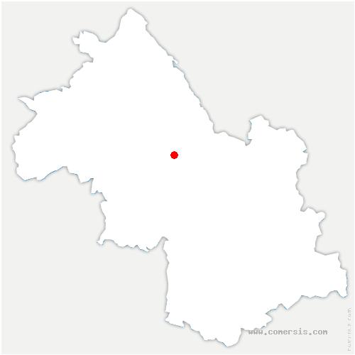 carte de localisation de Saint-Cassien