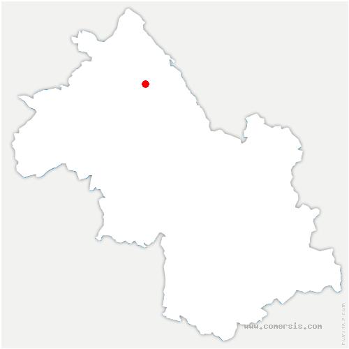 carte de localisation de Saint-Chef