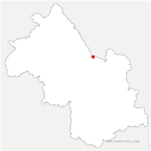 carte de localisation de Saint-Christophe-sur-Guiers