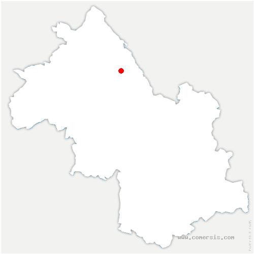 carte de localisation de Saint-Clair-de-la-Tour