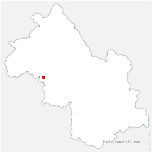 carte de localisation de Saint-Clair-sur-Galaure