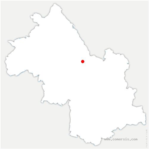 carte de localisation de Saint-Étienne-de-Crossey