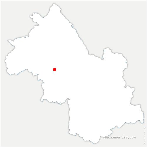 carte de localisation de Saint-Étienne-de-Saint-Geoirs