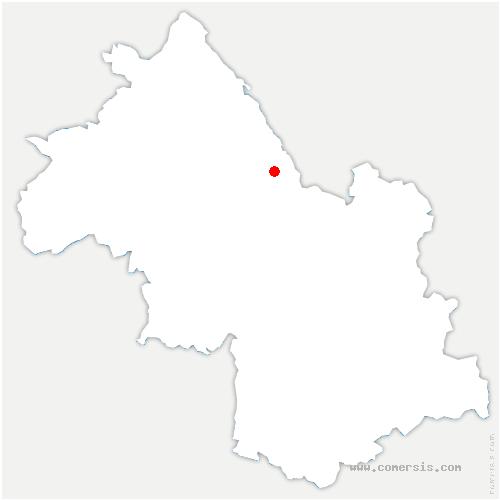 carte de localisation de Saint-Geoire-en-Valdaine
