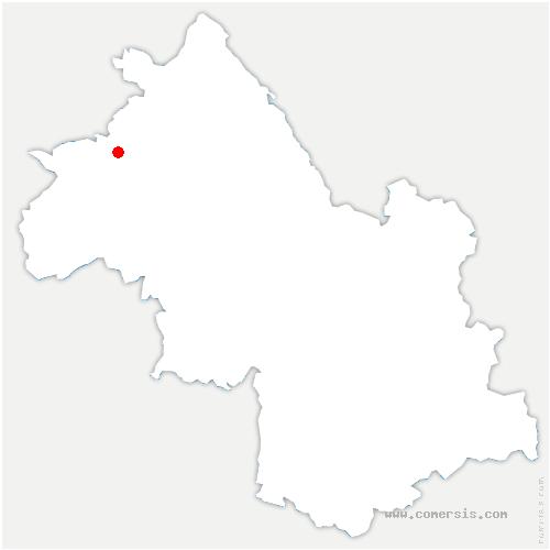 carte de localisation de Saint-Georges-d'Espéranche