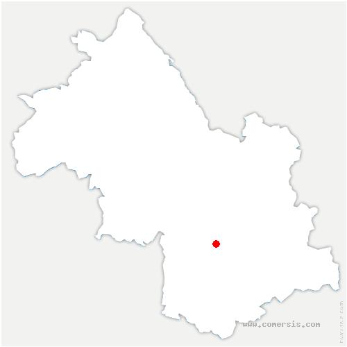 carte de localisation de Saint-Georges-de-Commiers