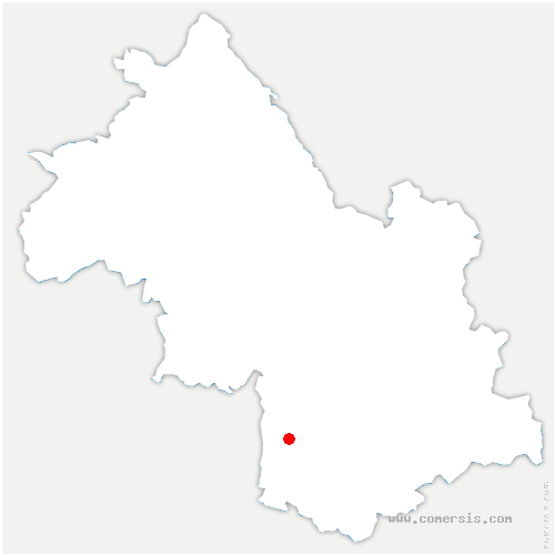 carte de localisation de Saint-Guillaume