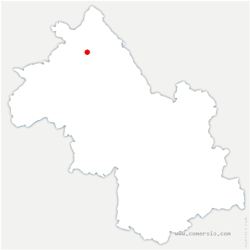 carte de localisation de Saint-Hilaire-de-Brens