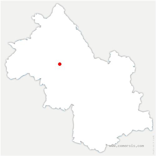 carte de localisation de Saint-Hilaire-de-la-Côte