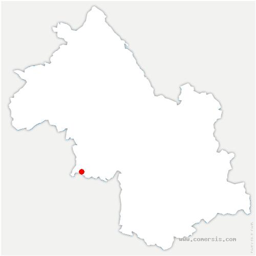 carte de localisation de Saint-Hilaire-du-Rosier