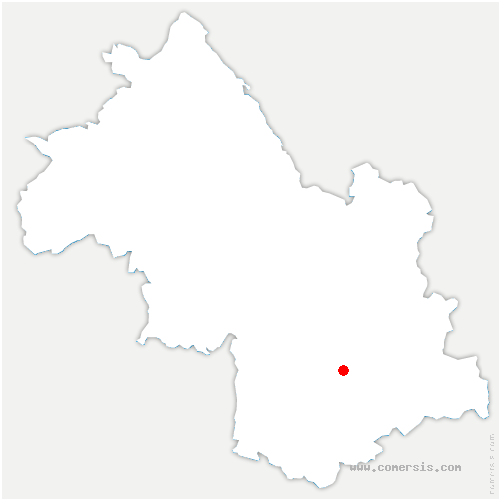 carte de localisation de Saint-Honoré