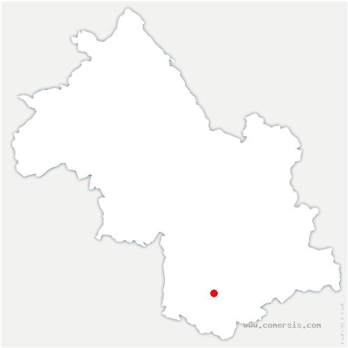carte de localisation de Saint-Jean-d'Hérans