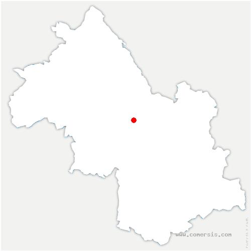 carte de localisation de Saint-Jean-de-Moirans