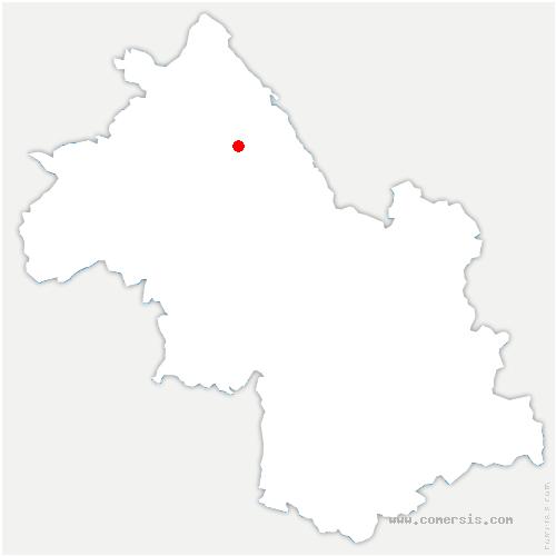 carte de localisation de Saint-Jean-de-Soudain