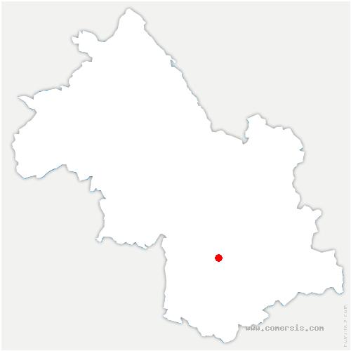 carte de localisation de Saint-Jean-de-Vaulx