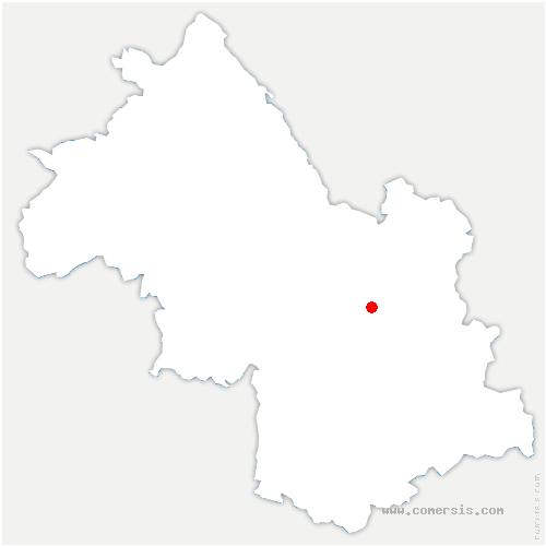 carte de localisation de Saint-Jean-le-Vieux
