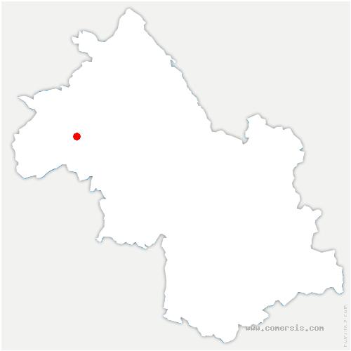 carte de localisation de Saint-Julien-de-l'Herms