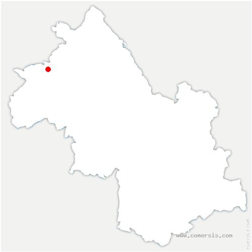 carte de localisation de Saint-Just-Chaleyssin