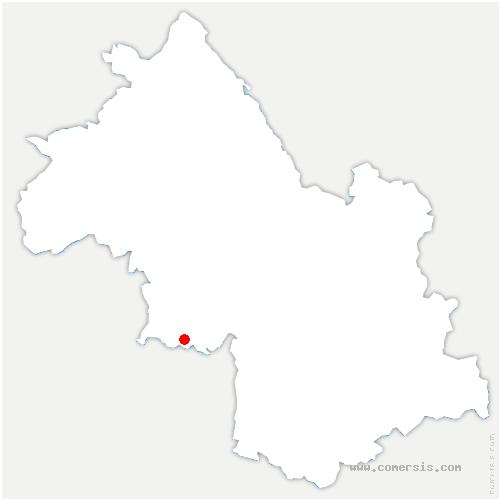 carte de localisation de Saint-Just-de-Claix