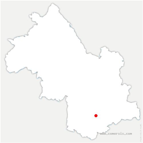 carte de localisation de Saint-Laurent-en-Beaumont