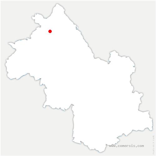 carte de localisation de Saint-Marcel-Bel-Accueil