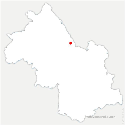 carte de localisation de Saint-Martin-de-Vaulserre