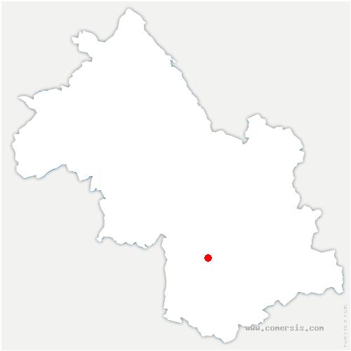 carte de localisation de Saint-Martin-de-la-Cluze