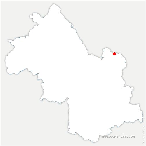 carte de localisation de Saint-Maximin