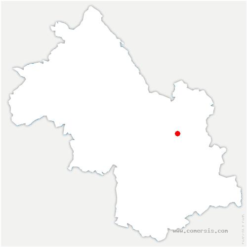 carte de localisation de Saint-Mury-Monteymond