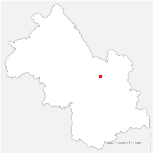 carte de localisation de Saint-Nazaire-les-Eymes