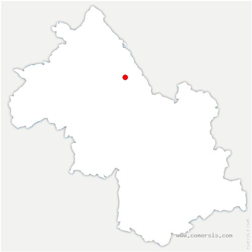 carte de localisation de Saint-Ondras
