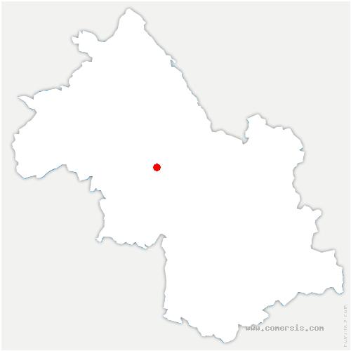 carte de localisation de Saint-Paul-d'Izeaux